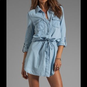 Sanctuary Chambray Blue Denim Shirt Dress